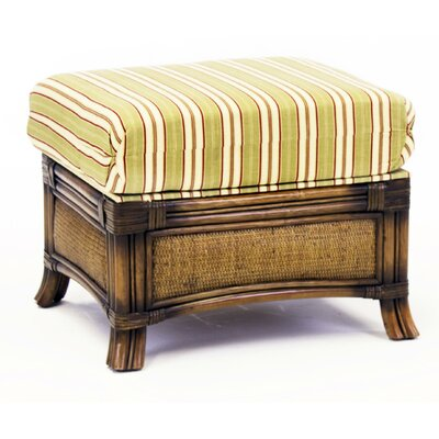 South Sea Rattan Pacifica Vera Cruz Fossil Ottoman