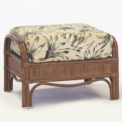 South Sea Rattan Bermuda Jasmine Antique Stripe Ottoman