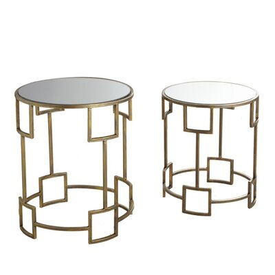 House of Hampton Ettinger 2 Piece Nesting Tables