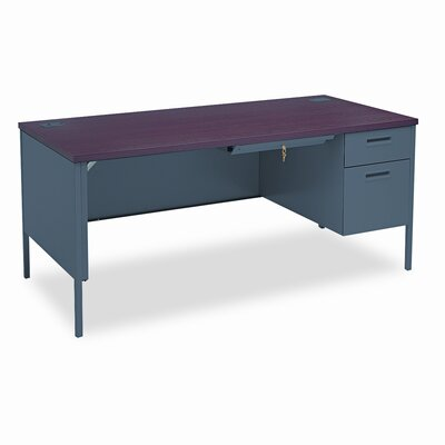 HON Metro Classic Computer Desk with Right Pedestal