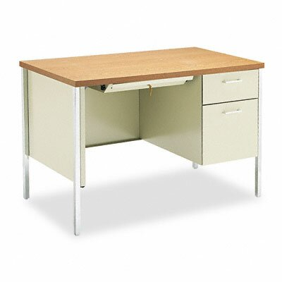 HON 34000 Series Computer Desk with Single Right Pedestal