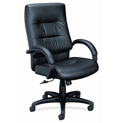 HON Basyx Executive High-Back Leather Chair