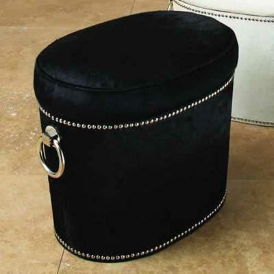 Global Views Angus Leather Ottoman