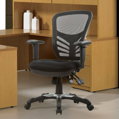 Manhattan Comfort High-Back Mesh Conference Chair with Adjustable Height Image