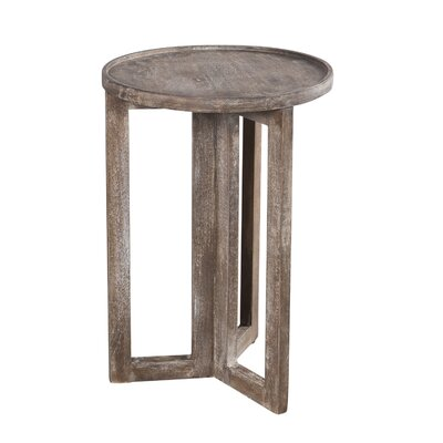 Wildon Home Distressed Modern Round  Large Side Table