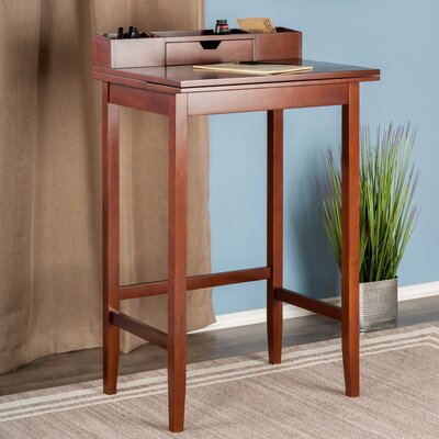 Red Barrel Studio Cullins Writing Desk with Hutch