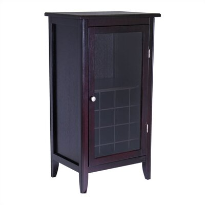 Winsome Espresso 16 Bottle Floor Wine Cabinet