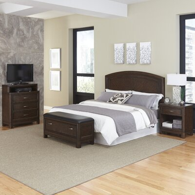 Home Styles Crescent Hill Platform 4 Piece Bedroom Set