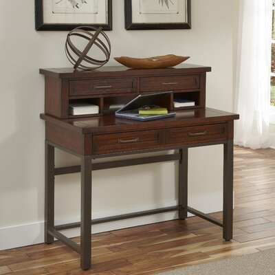 Loon Peak Rockvale Computer Desk with Hutch and Keyboard Tray