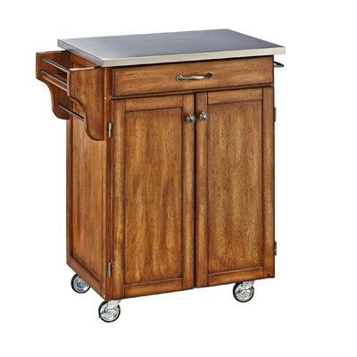 Home Styles Cuisine Kitchen Cart with Stainless..