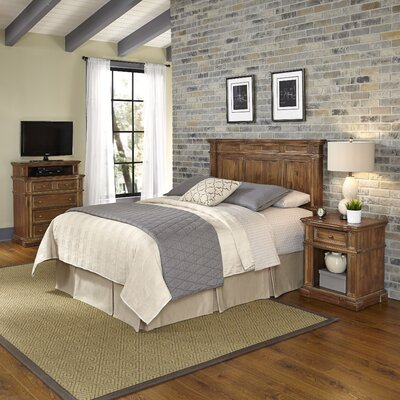 Home Styles Americana Vintage Platfrom 3 Piece Bedroom Set