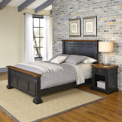 Home Styles Americana Panel 2 Piece Bedroom Set