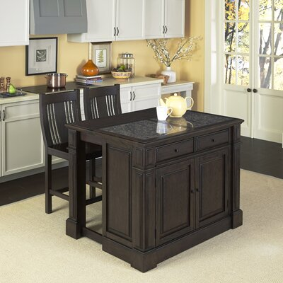 Home Styles Prairie Home 3 Piece Kitchen Island Set