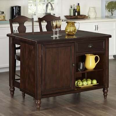 Home Styles Country Comfort 3 Piece Kitchen Island Set