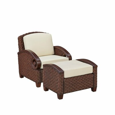 Home Styles Cabana Banana III Arm Chair and Ottoman