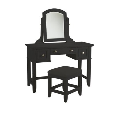 Home Styles Bedford Three Drawer Vanity Set with Mirror