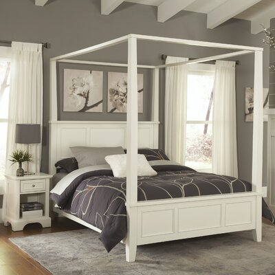 Home Styles Naples Canopy 2 Piece Bedroom Set