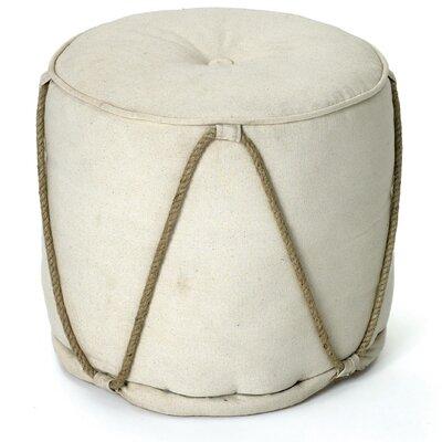 Hip Vintage Off White Pouf Ottoman