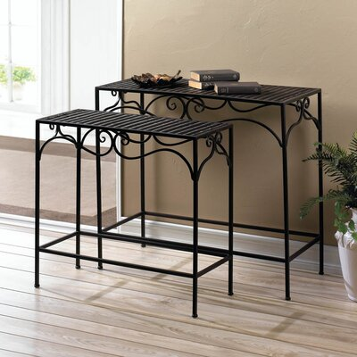Zingz & Thingz Umber Wicker 2 Piece Nesting Tables