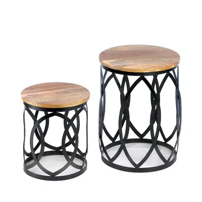 Zingz & Thingz 2 Piece Contemporary End Table Set