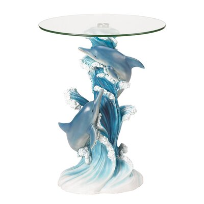 zingz & thingz wave dancers dolphin end table & reviews | wayfair
