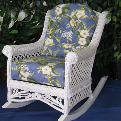 Spice Islands Wicker Gazebo Rocking Chair