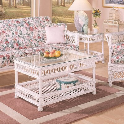 Spice Islands Wicker Bar Harbor Coffee Table Set