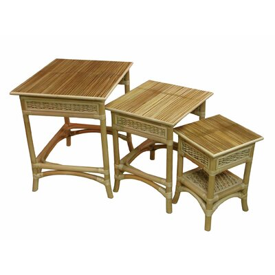 Spice Islands Wicker Nesting Table