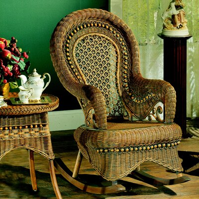 Yesteryear Wicker Country Brownwash Rocking Chair