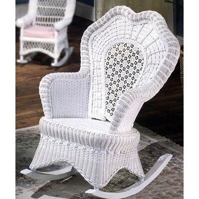 Yesteryear Wicker Serpentine Rocking Chair
