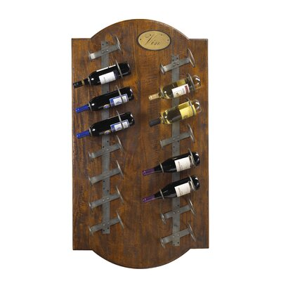 French Heritage French Accents 16 Bottle Wall Mounted Wine Rack