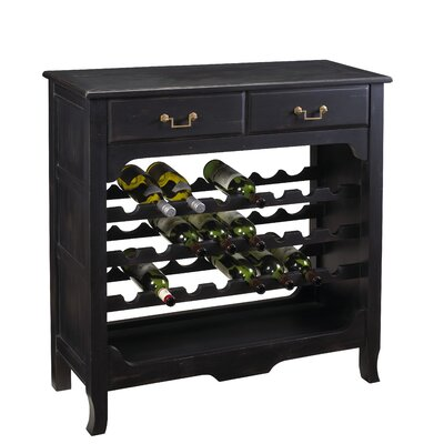 French Heritage French Accents Merlot 36 Bottle Floor Wine Cabinet