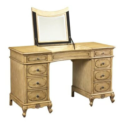 French Heritage Lilles Vanity with Mirror