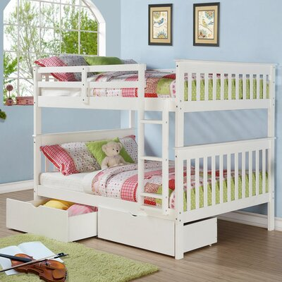 Donco Kids Mission Full over Full Bunk Bed with Storage