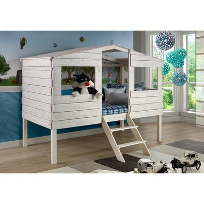 Donco Kids Tree House Twin Low Loft Bed