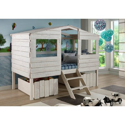 Birch Lane Kids Cabin Lofted Bed with Storage