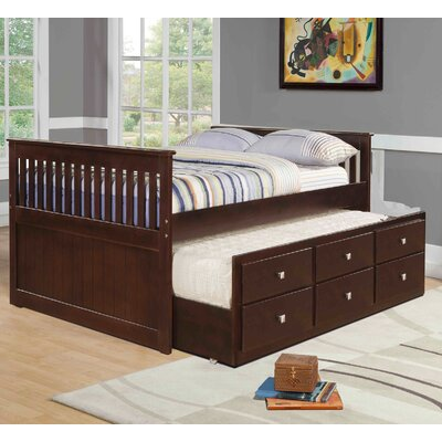 Donco Kids Full Captain Bed with Trundle