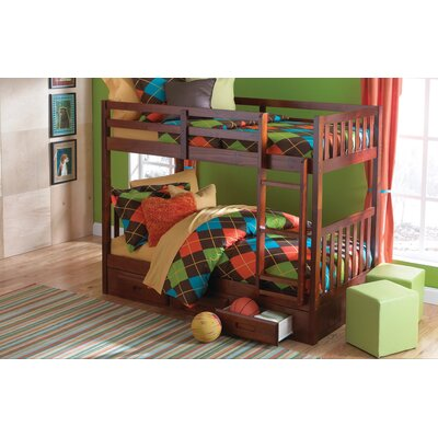 Donco Kids Mission Twin over Twin Bunk Bed w..
