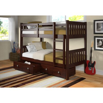 Donco Kids Twin Bunk Bed with Storage
