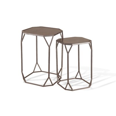 Foreside Home & Garden 2 Piece Nesting Tables Image