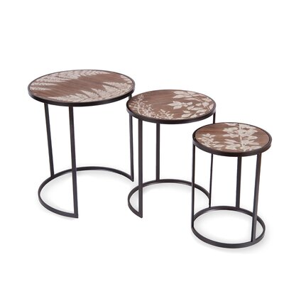 Foreside Home & Garden 3 Piece Nesting Table