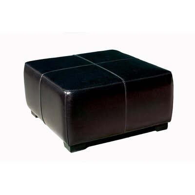 Wholesale Interiors Baxton Studio Hortensio Square Leather Ottoman