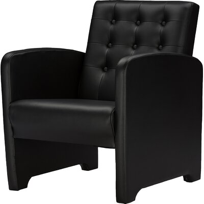 Wholesale Interiors Baxton Studio Jazz Faux Leather Upholstered Armchair
