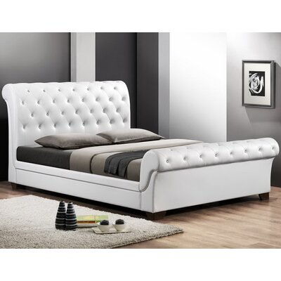 Wholesale Interiors Baxton Studio Full/Double Upholstered Sleigh Bed