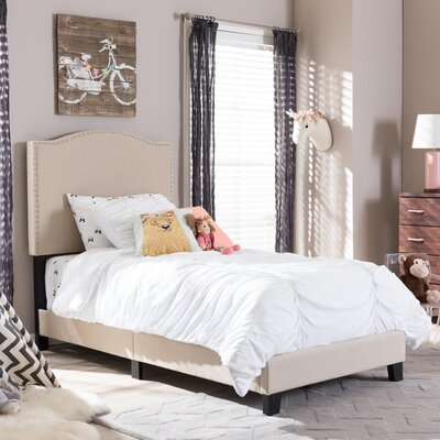 Wholesale Interiors Baxton Studio Twin Upholstered Panel Bed
