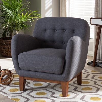Wholesale Interiors Baxton Studio Susana Upholstered Button Tufted Arm Chair