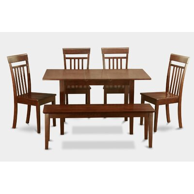 East West Furniture Norfolk 6 Piece Dining Set