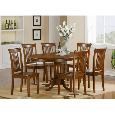 East West Furniture Portland 7 Piece D..