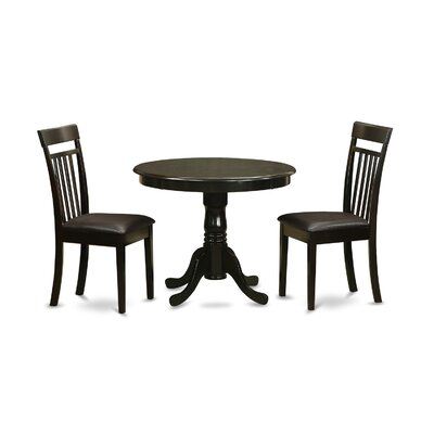 East West Furniture 3 Piece Dining Set Image