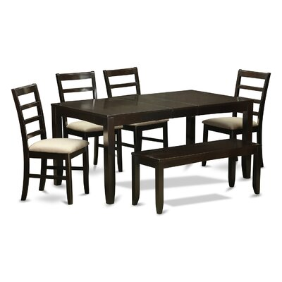 East West Furniture Lynfield 6 Piece Dini..